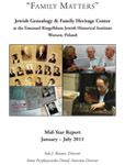 Jewish Genealogy & Family Heritage Center Report 2011